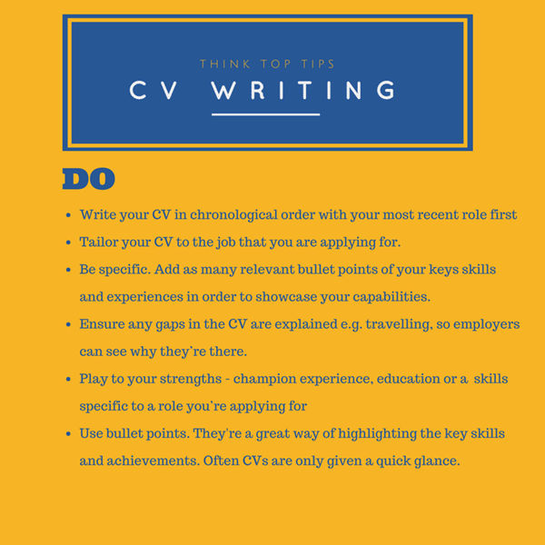 Your CV Resume Tips