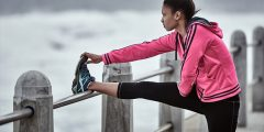 Stay fit - stay focused - running stretching