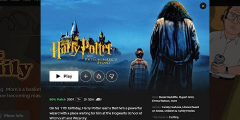 harry-potter on netflix