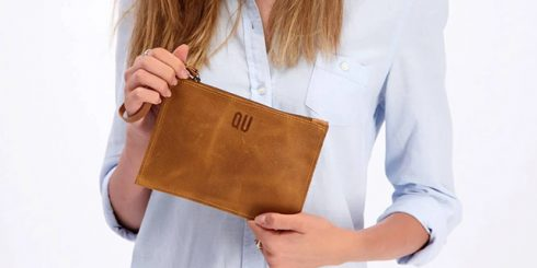 wristlet leather wallet
