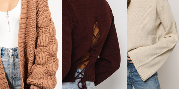 TOBI Sweaters With Flare