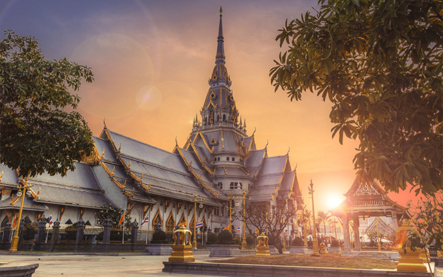 Thailand Temple sunset