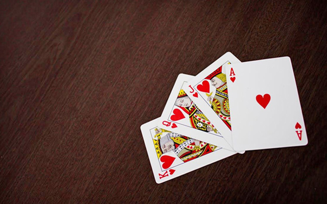 cards on table
