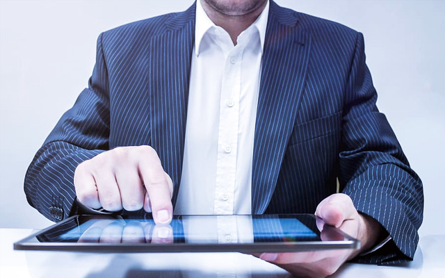 business technology tablet