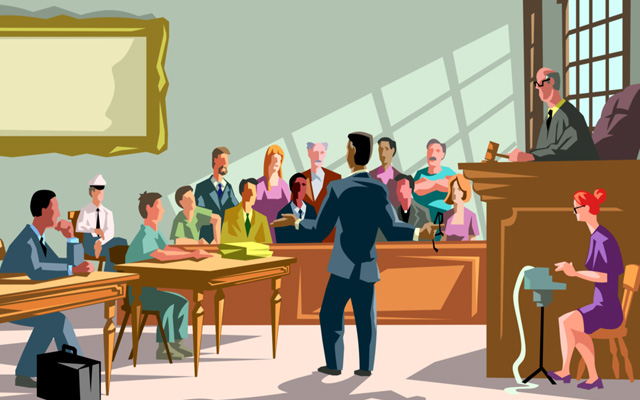 lawyer in court Personal Injury