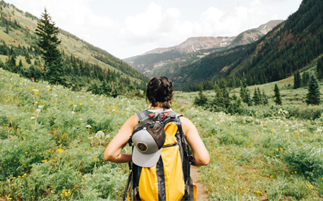 hiking outdoors fitness