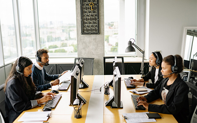 reorganizing business - small sales team - call centre